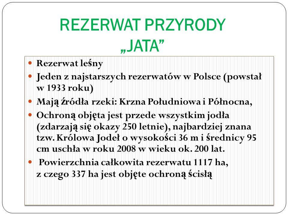 """REZERWAT PRZYRODY """"JATA"""
