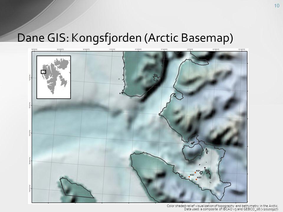 Dane GIS: Kongsfjorden (Arctic Basemap)