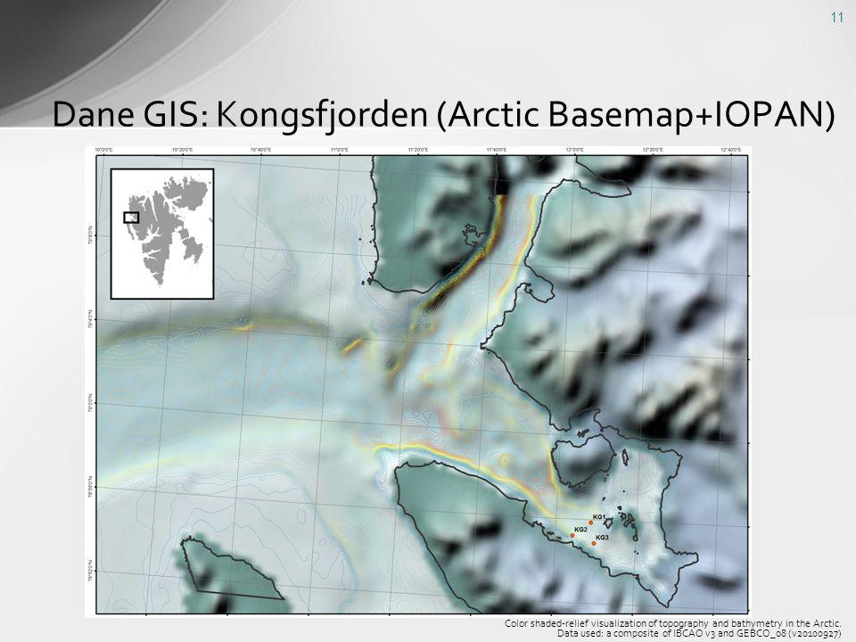 Dane GIS: Kongsfjorden (Arctic Basemap+IOPAN)