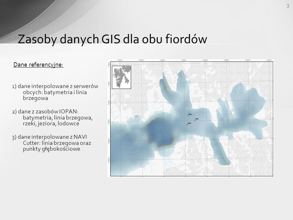 Zasoby danych GIS dla obu fiordów