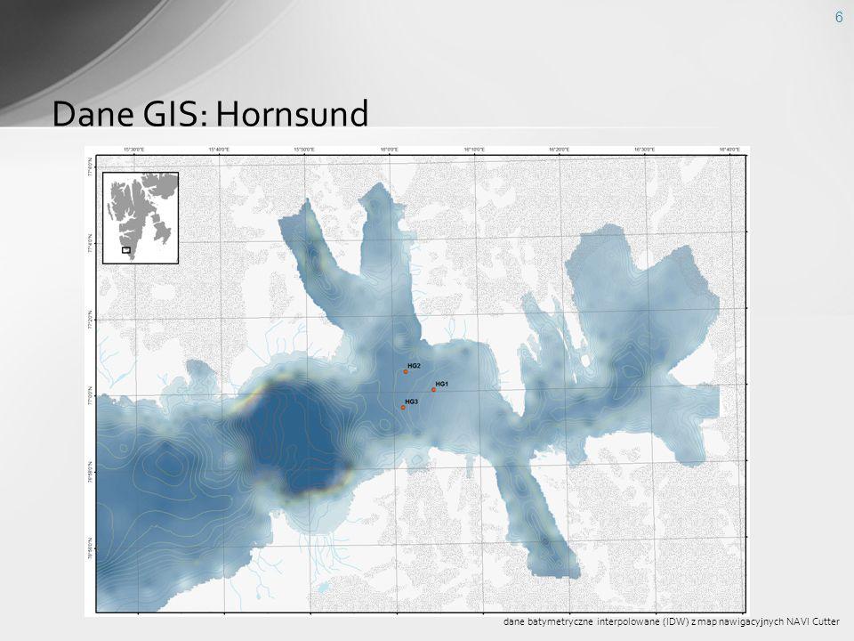 Dane GIS: Hornsund dane batymetryczne interpolowane (IDW) z map nawigacyjnych NAVI Cutter
