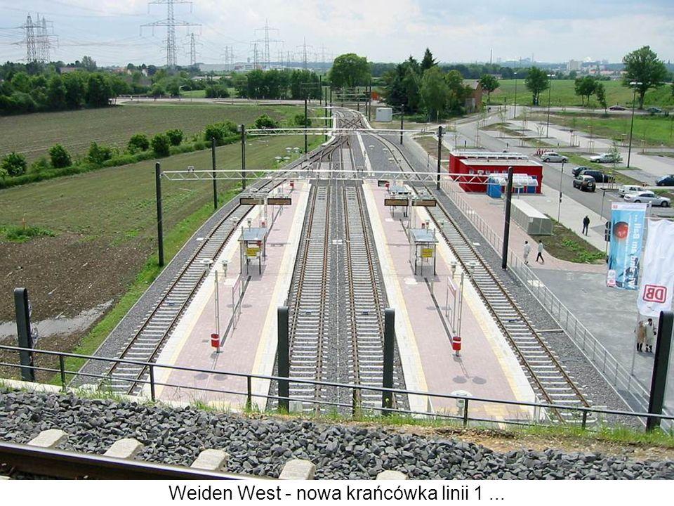 Weiden West - nowa krańcówka linii 1 ...