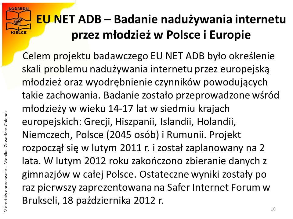 EU NET ADB – Badanie nadużywania internetu przez młodzież w Polsce i Europie