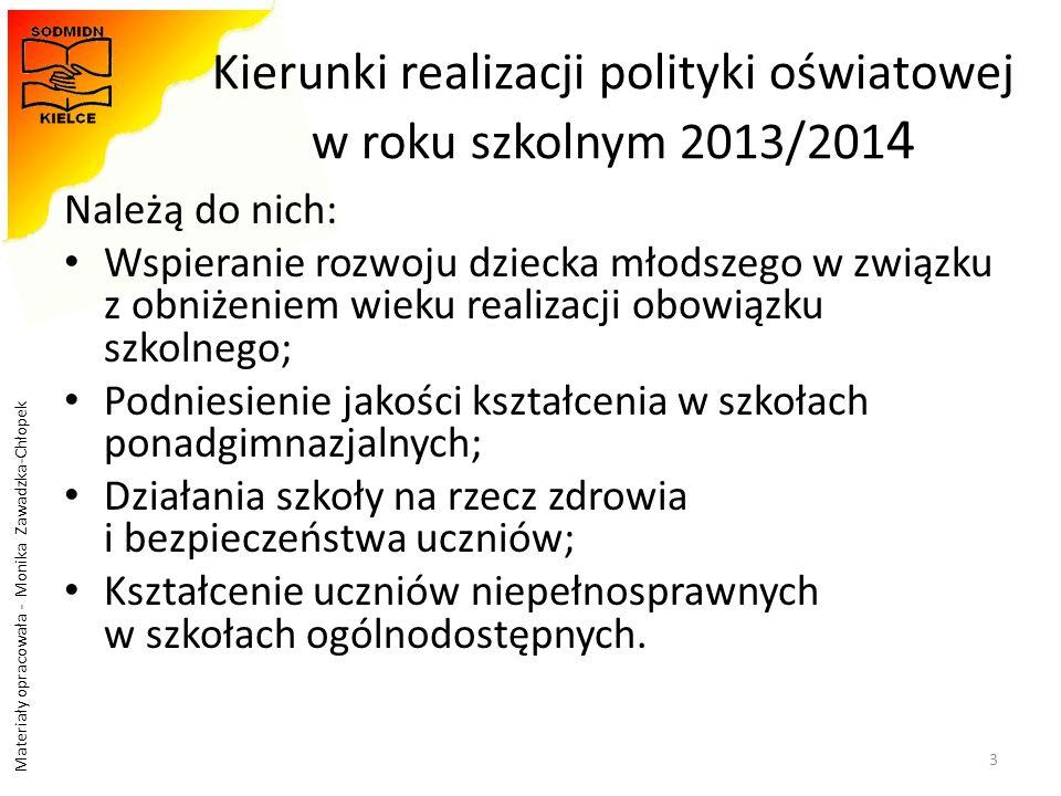 Kierunki realizacji polityki oświatowej w roku szkolnym 2013/2014