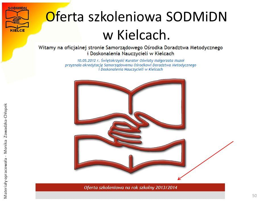 Oferta szkoleniowa SODMiDN w Kielcach.