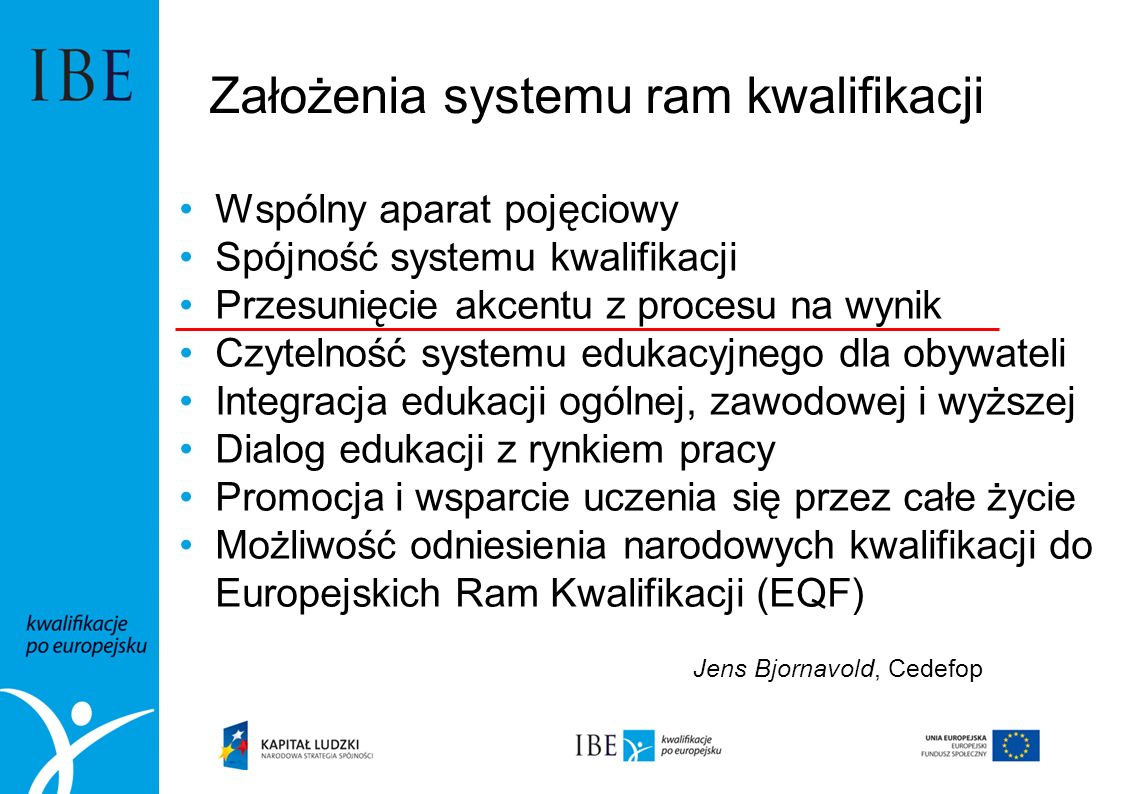 Założenia systemu ram kwalifikacji