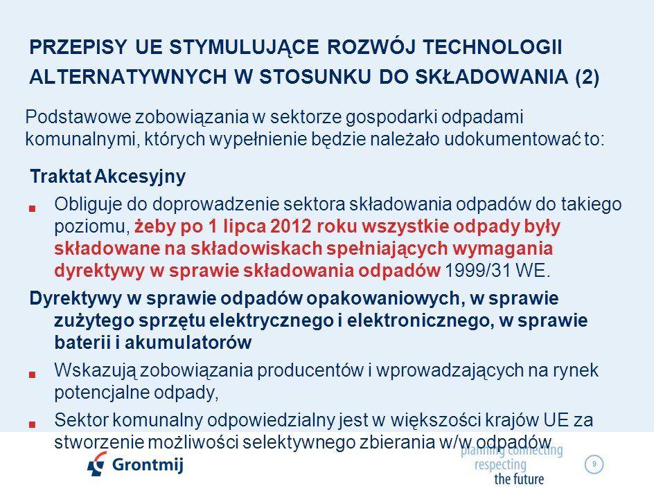PRZEPISY UE STYMULUJĄCE ROZWÓJ TECHNOLOGII ALTERNATYWNYCH W STOSUNKU DO SKŁADOWANIA (2)