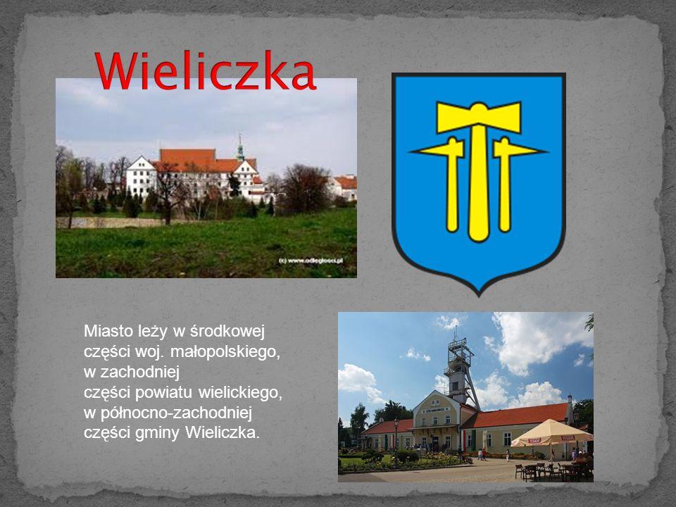 Wieliczka Miasto leży w środkowej części woj.
