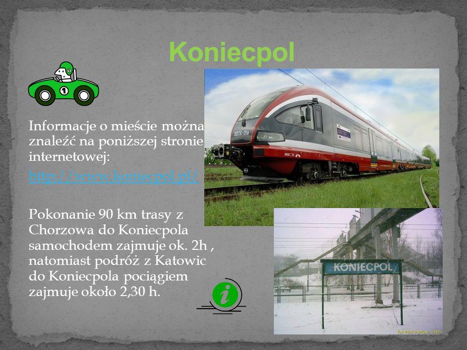 Koniecpol Informacje o mieście można znaleźć na poniższej stronie internetowej: http://www.koniecpol.pl/