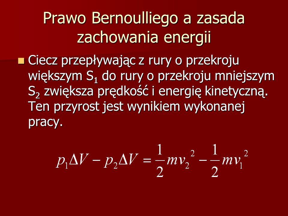 Prawo Bernoulliego a zasada zachowania energii