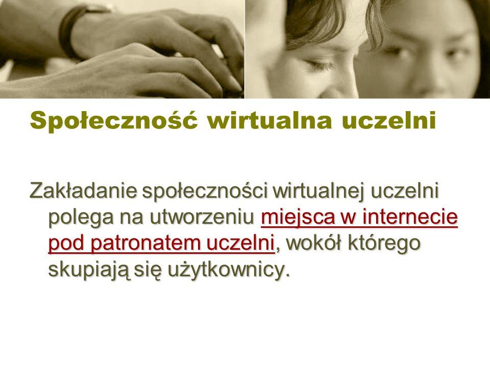 Społeczność wirtualna uczelni