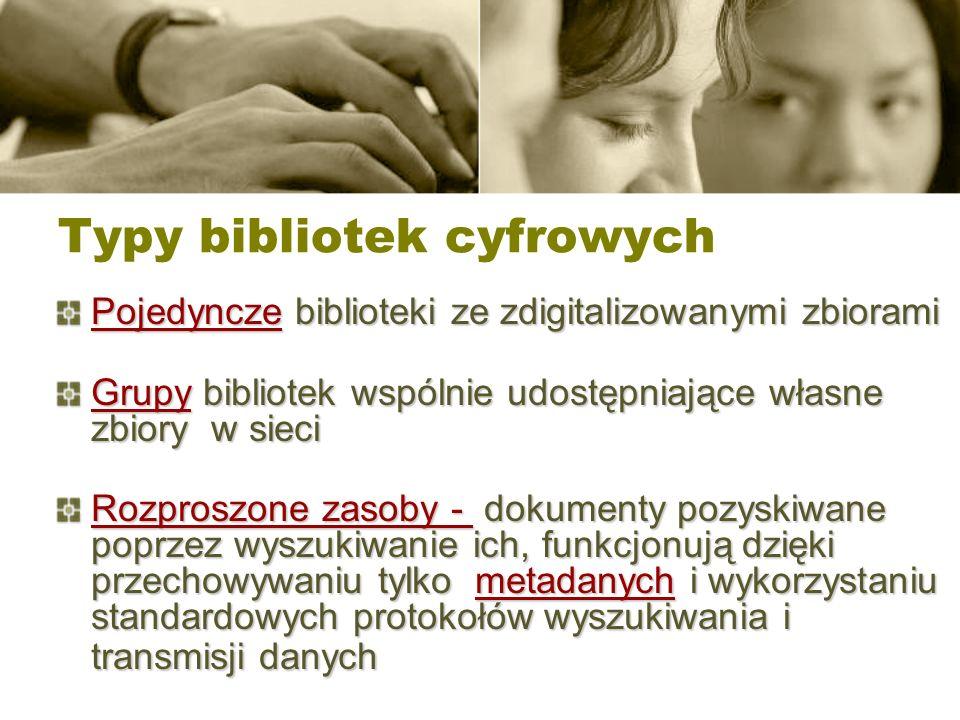 Typy bibliotek cyfrowych
