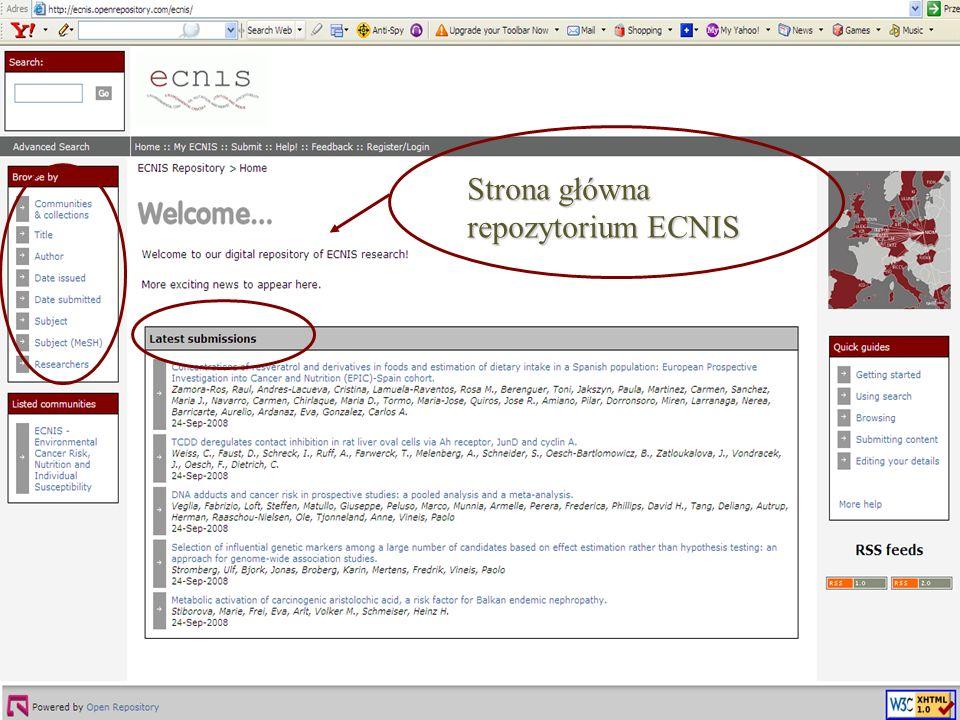 Strona główna repozytorium ECNIS