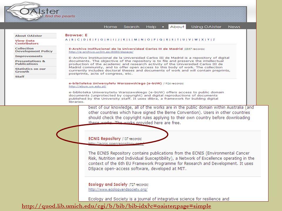 http://quod.lib.umich.edu/cgi/b/bib/bib-idx c=oaister;page=simple