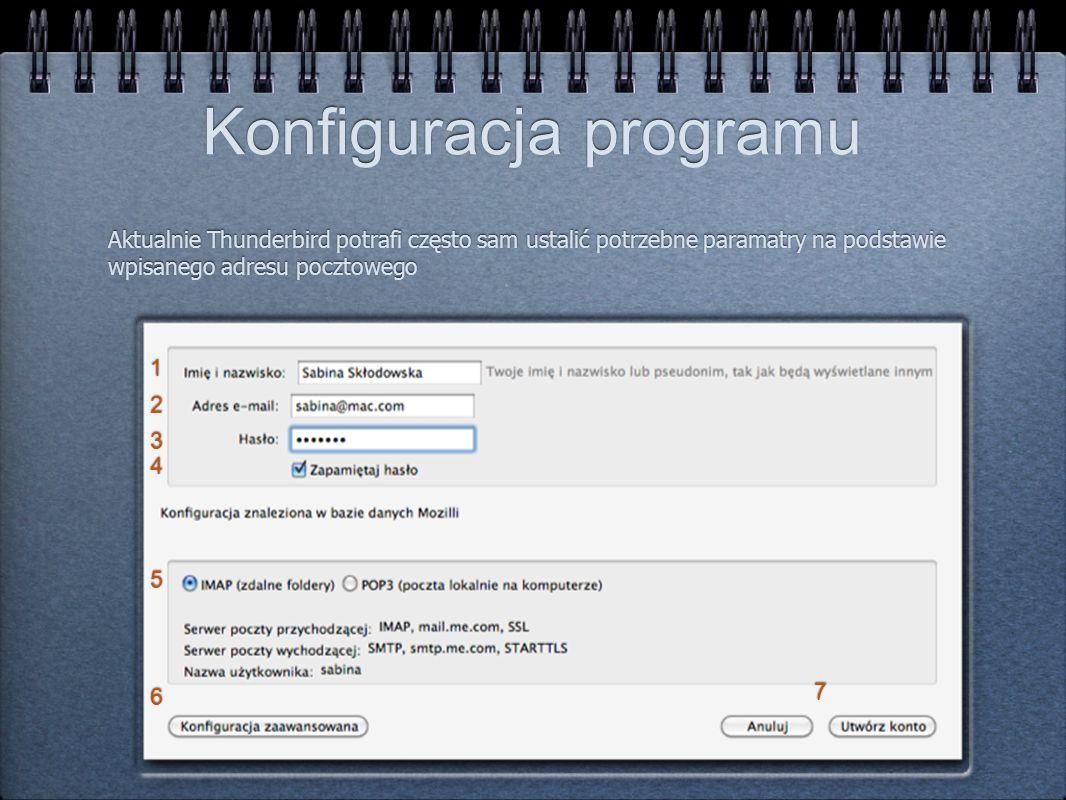 Konfiguracja programu