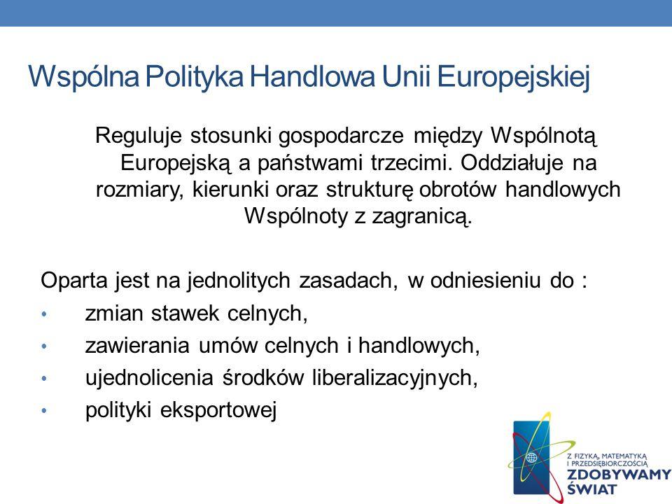 Wspólna Polityka Handlowa Unii Europejskiej