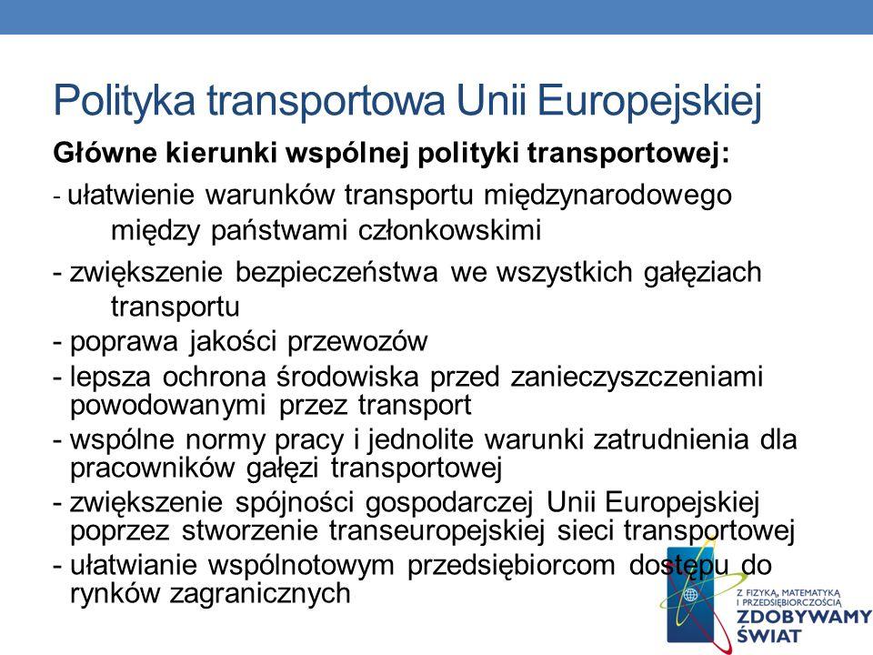 Polityka transportowa Unii Europejskiej