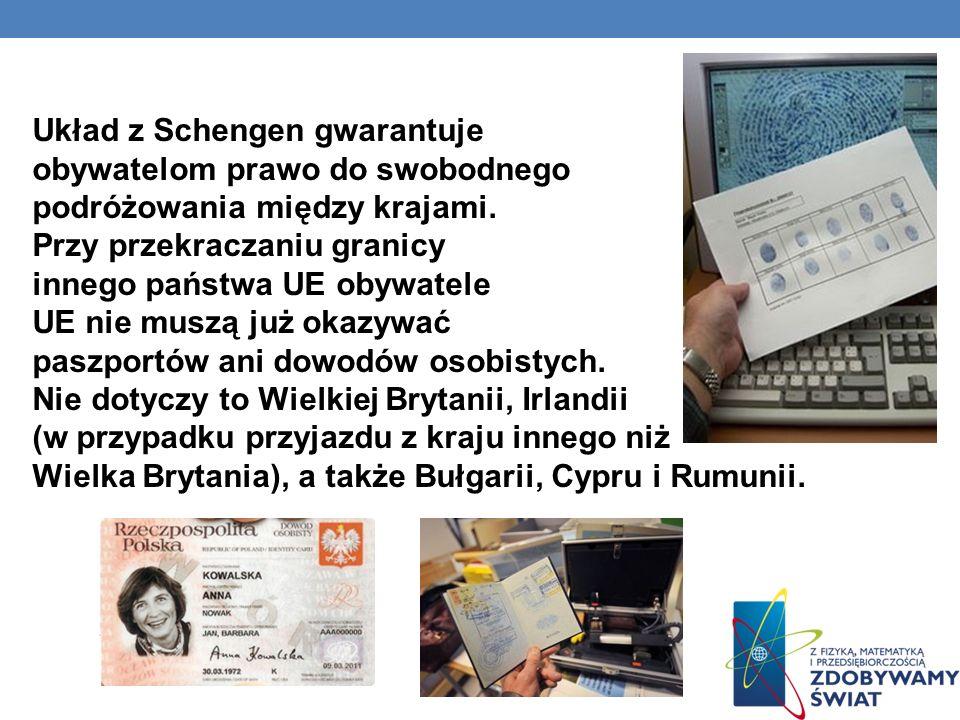 Układ z Schengen gwarantuje obywatelom prawo do swobodnego podróżowania między krajami.