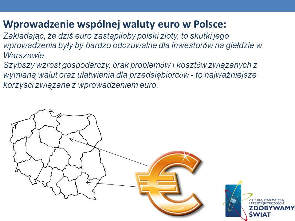 Wprowadzenie wspólnej waluty euro w Polsce: