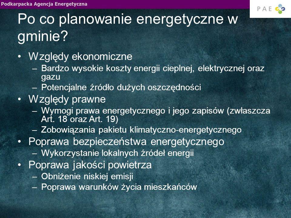 Po co planowanie energetyczne w gminie