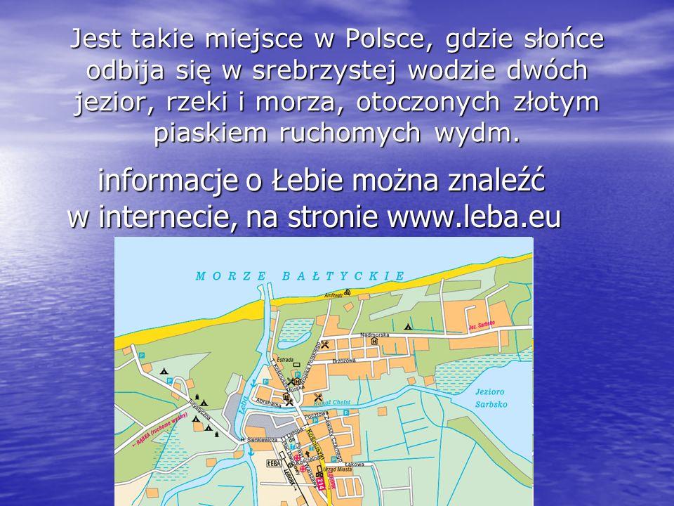 informacje o Łebie można znaleźć w internecie, na stronie www.leba.eu