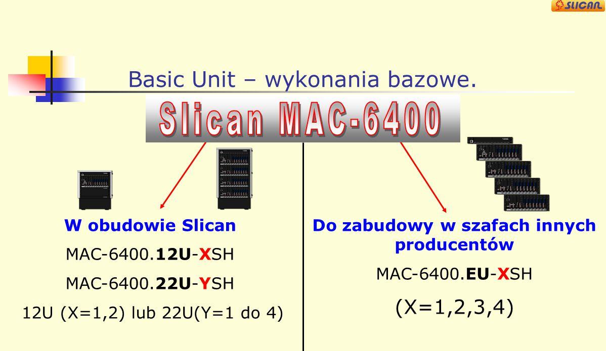 Basic Unit – wykonania bazowe.