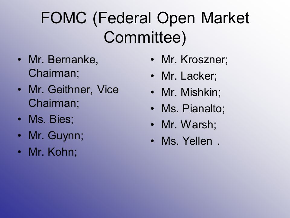 FOMC (Federal Open Market Committee)