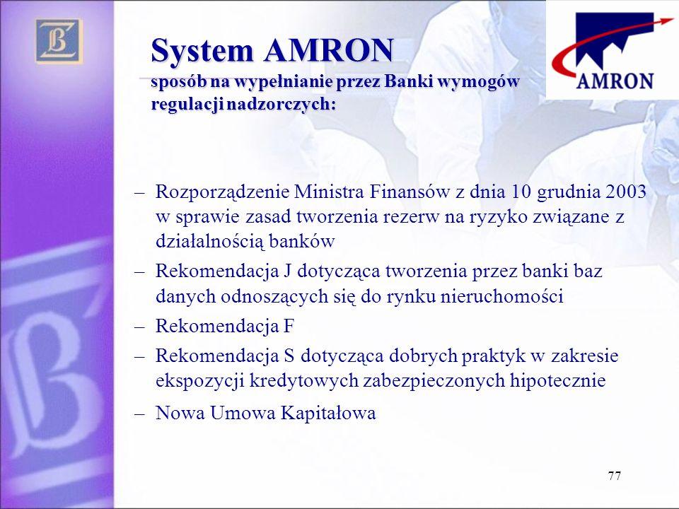 System AMRON sposób na wypełnianie przez Banki wymogów regulacji nadzorczych: