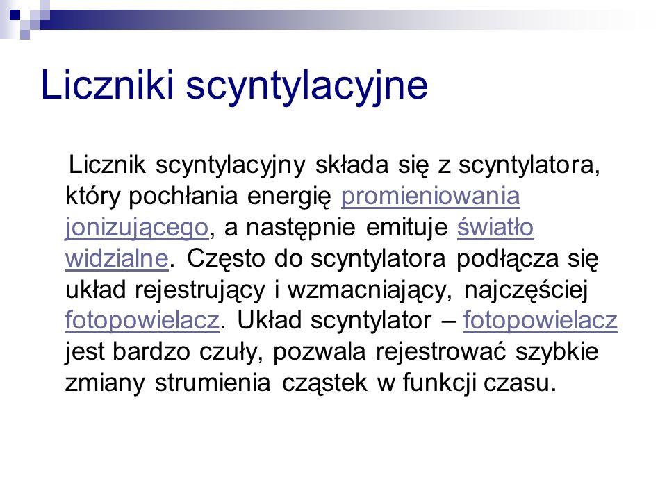 Liczniki scyntylacyjne