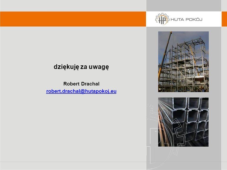 dziękuję za uwagę Robert Drachal robert.drachal@hutapokoj.eu