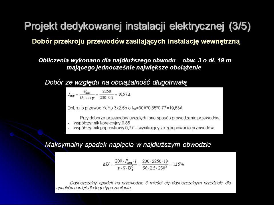 Projekt dedykowanej instalacji elektrycznej (3/5)