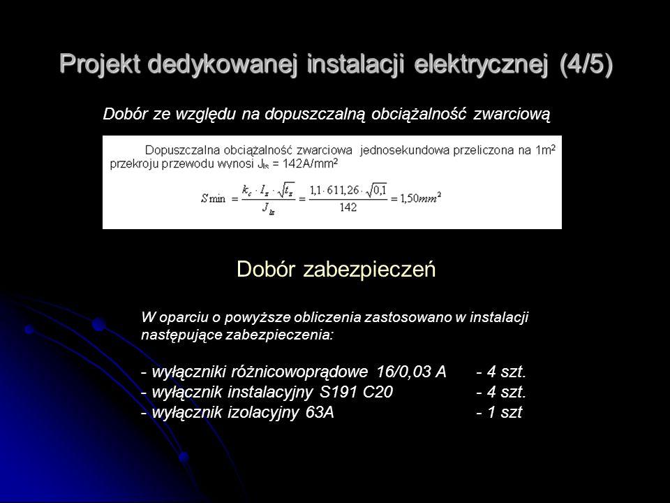 Projekt dedykowanej instalacji elektrycznej (4/5)