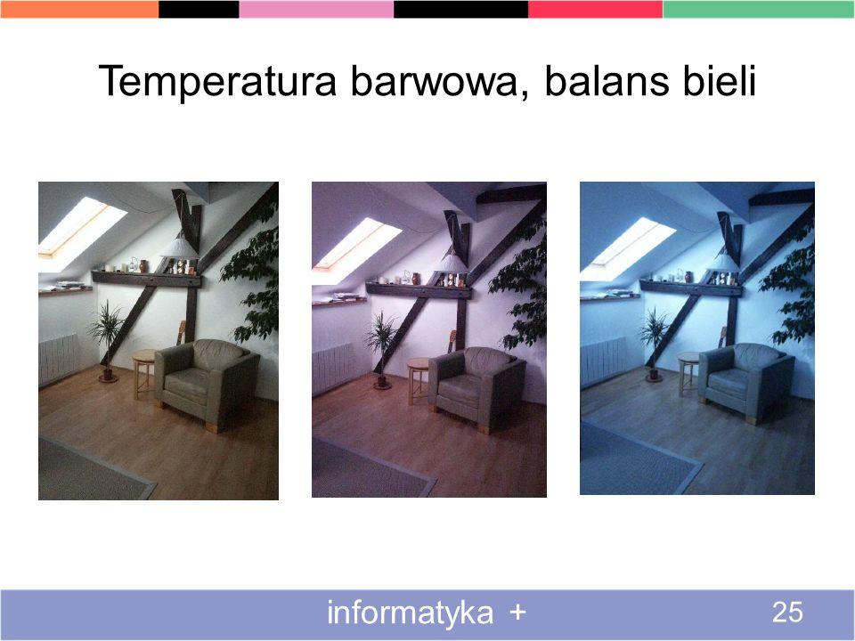 Temperatura barwowa, balans bieli