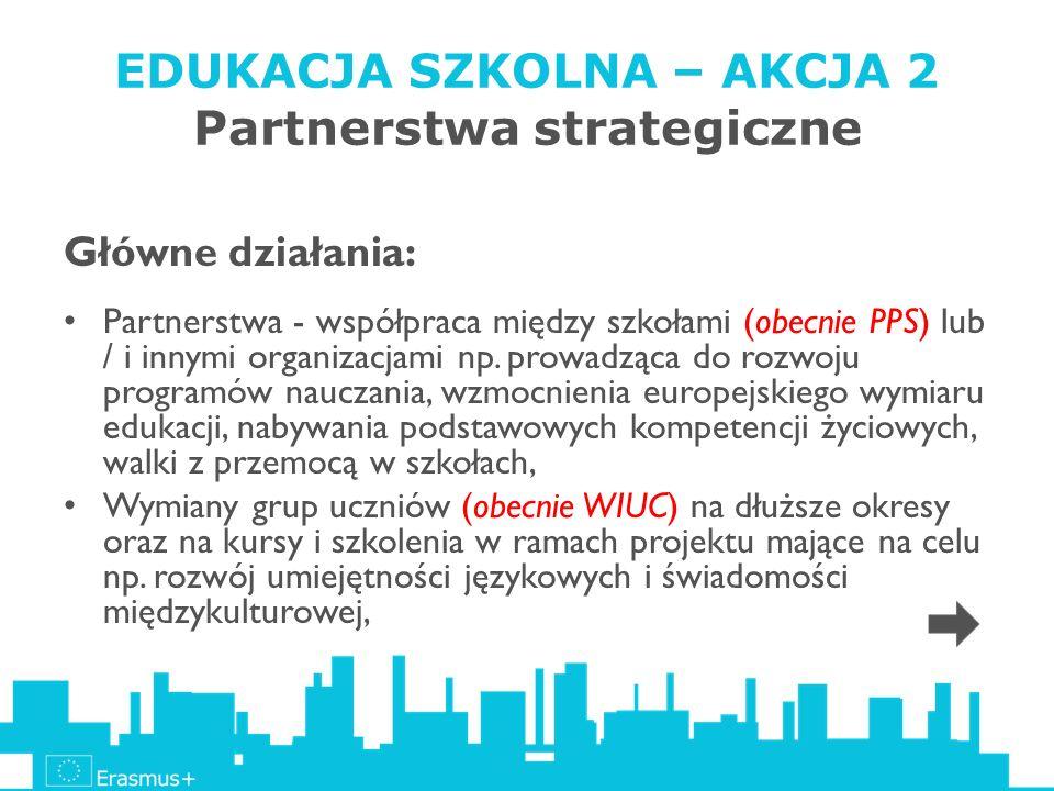 EDUKACJA SZKOLNA – AKCJA 2 Partnerstwa strategiczne