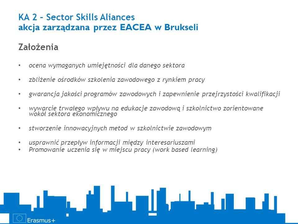 KA 2 – Sector Skills Aliances akcja zarządzana przez EACEA w Brukseli