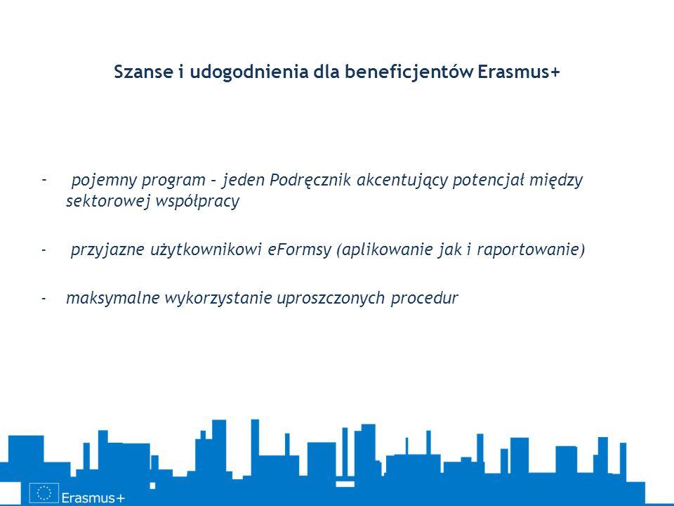 Szanse i udogodnienia dla beneficjentów Erasmus+
