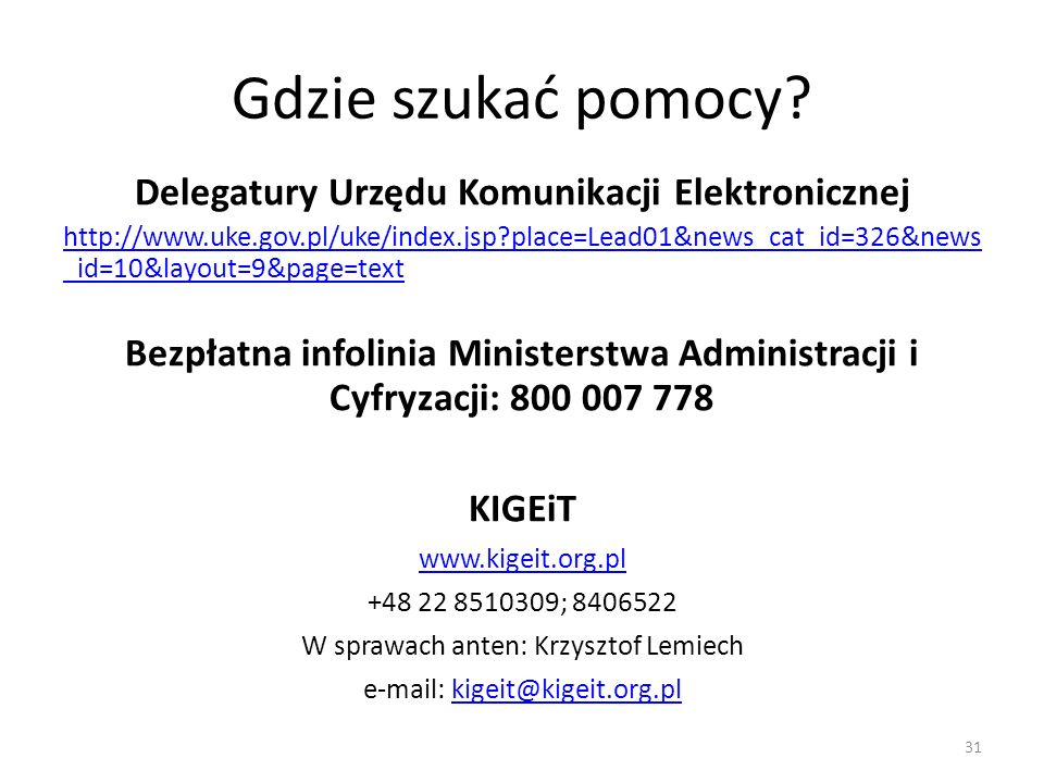 Delegatury Urzędu Komunikacji Elektronicznej