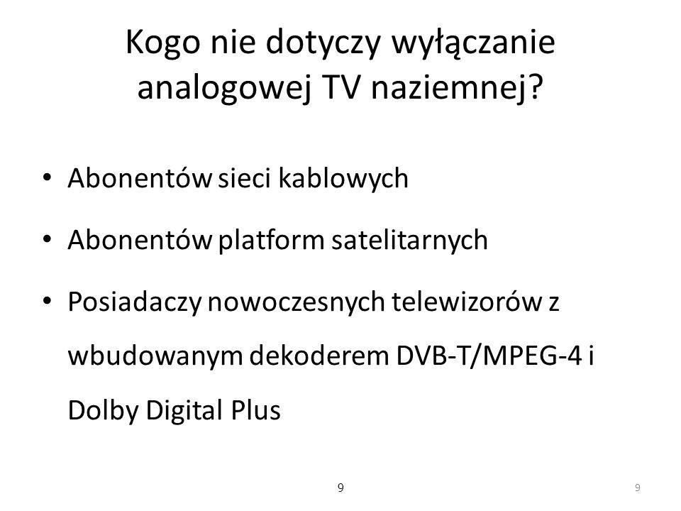 Kogo nie dotyczy wyłączanie analogowej TV naziemnej