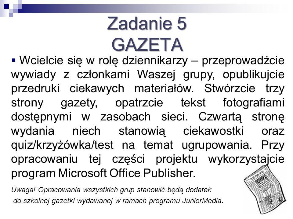Zadanie 5 GAZETA.