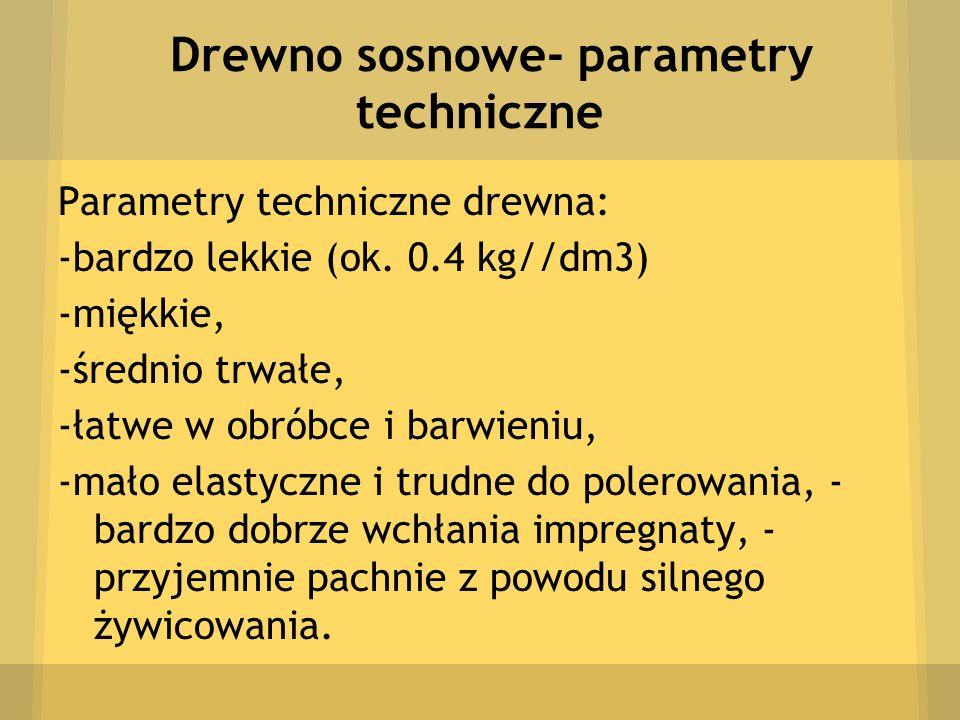 Drewno sosnowe- parametry techniczne