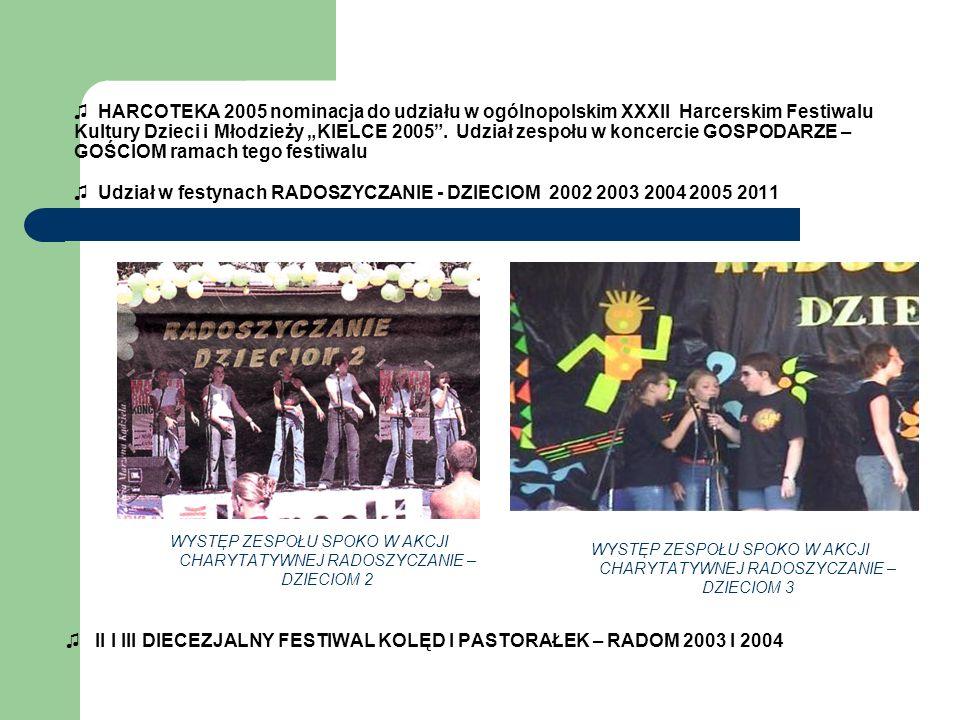 ♫ II I III DIECEZJALNY FESTIWAL KOLĘD I PASTORAŁEK – RADOM 2003 I 2004