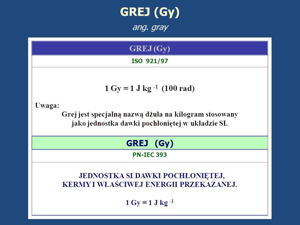 GREJ (Gy) ang. gray