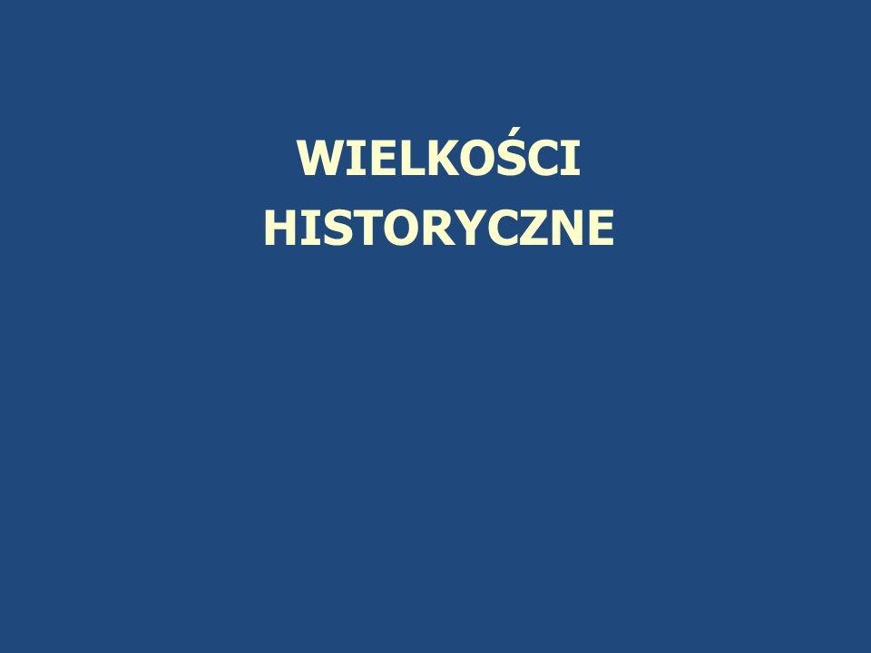 WIELKOŚCI HISTORYCZNE