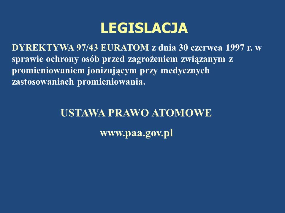 LEGISLACJA USTAWA PRAWO ATOMOWE www.paa.gov.pl