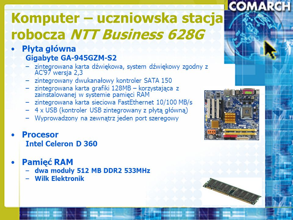 Komputer – uczniowska stacja robocza NTT Business 628G