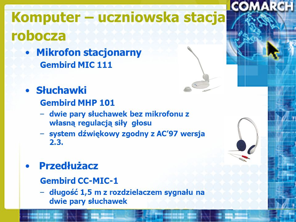 Komputer – uczniowska stacja robocza