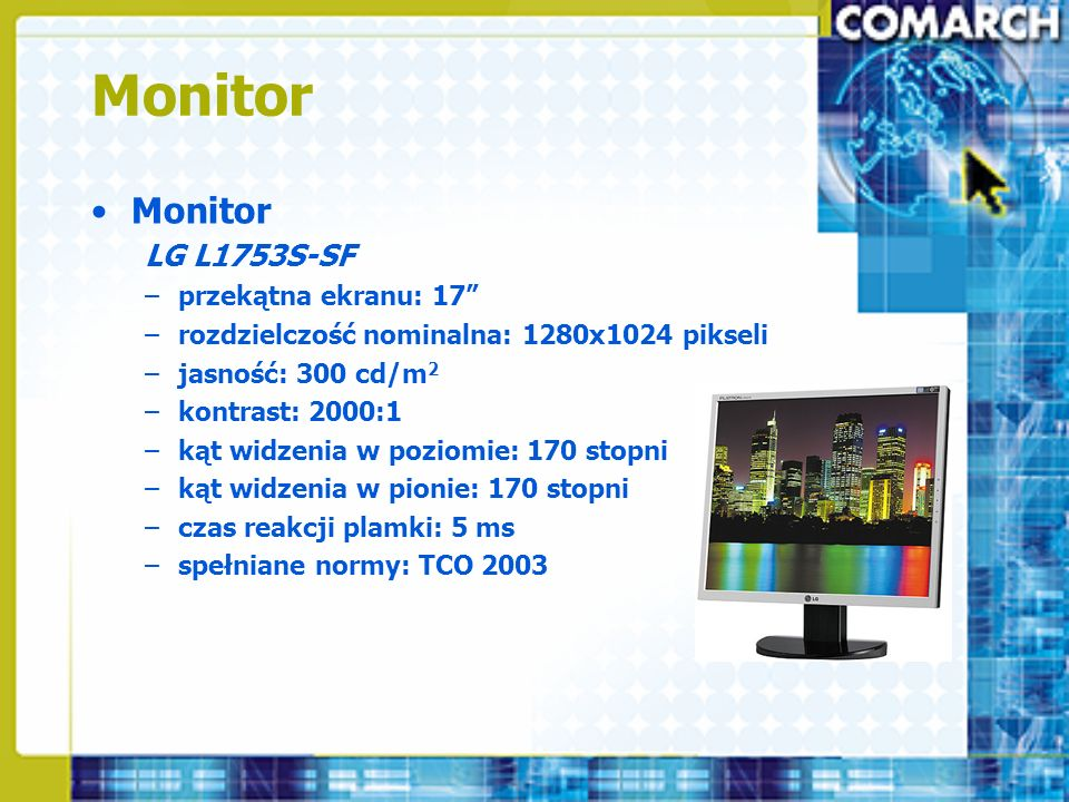 Monitor Monitor LG L1753S-SF przekątna ekranu: 17