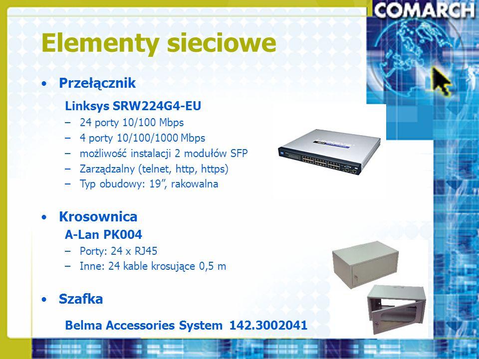 Elementy sieciowe Przełącznik Krosownica Szafka Linksys SRW224G4-EU