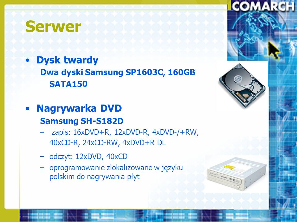 Serwer Dysk twardy Nagrywarka DVD