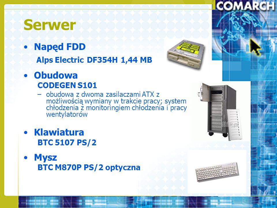 Serwer Napęd FDD Obudowa Klawiatura Mysz Alps Electric DF354H 1,44 MB